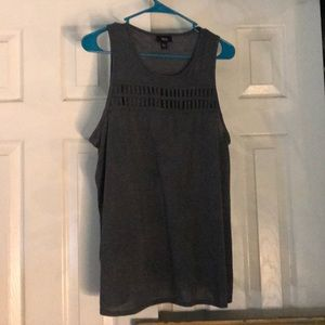 Mossimo Gray Tank Top with Cut Out Detail